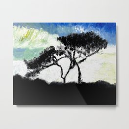 Shadow of Tree Metal Print