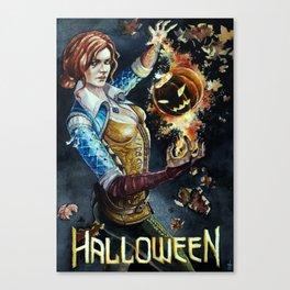 Halloween Triss Merigold Fanart. Witcher Wild Hunt Canvas Print