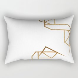 industrial golden glitters Rectangular Pillow