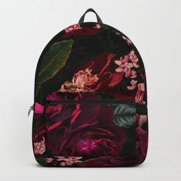 Vintage & Shabby Chic - Night Botanical Flower Roses Garden Backpack