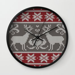 Ugly knitted Sweater Wall Clock