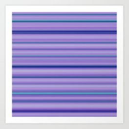 Modern Purple Pantone Aqua Stripe Pattern Art Print