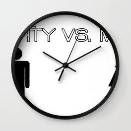 The Mighty vs. The Meek Wall Clock