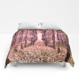 Magical Forest Peachy Pink Comforters