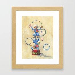 Blue Monkeys Framed Art Print