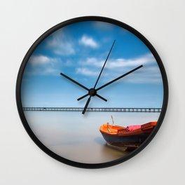 Boat in the sea Wall Clock