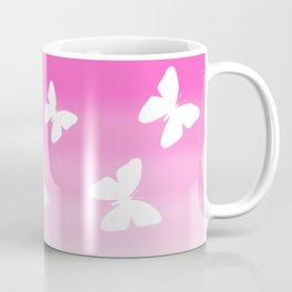 Pink Butterfly Ombre Fade Coffee Mug