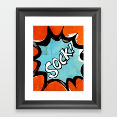 Comic Book: Sock! Framed Art Print