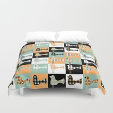 Little Leggy Flowerbirds Duvet Cover