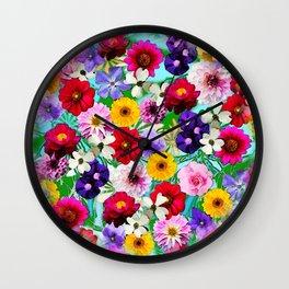 Garden in Bloom Wall Clock