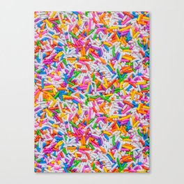Dessert Rainbow Sprinkles Pattern Canvas Print