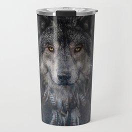The Winter is here - Wolf Dreamcatcher Travel Mug