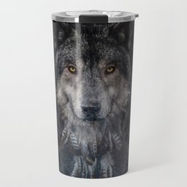 Winter mode - Wolf Dreamcatcher Travel Mug