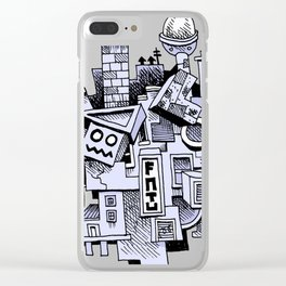 Jumbled City full of assorted junnk Clear iPhone Case