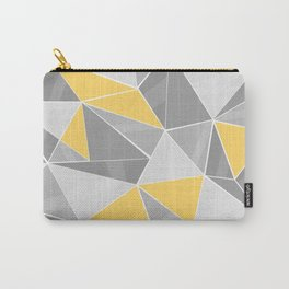 Pattern, grey - yellow Carry-All Pouch