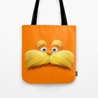 daenerys Tote Bags featuring THE LORAX by Inara