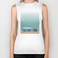 vans Biker Tanks featuring Surf Vans by Billy Hrncir