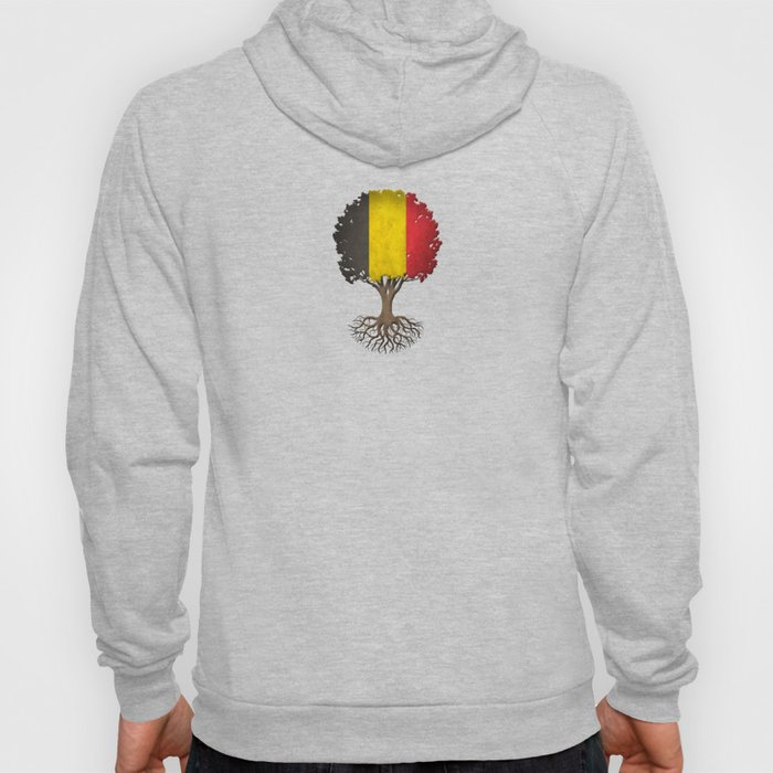 Vintage Tree of Life with Flag of Belgium Hoody