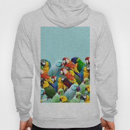 Sky blue parrots home decor Hoody