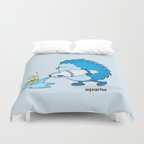 funny zodiac/aquarius Duvet Cover