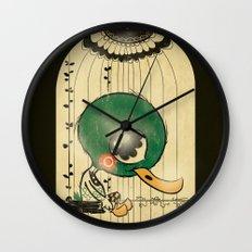 Chinese Idiom: Sitting Duck 插翅难飞 Wall Clock