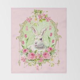 Spring Bunny Throw Blanket