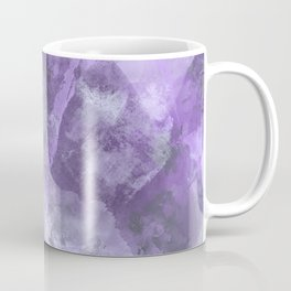 Stormy Abstract Art in Purple and Gray Coffee Mug