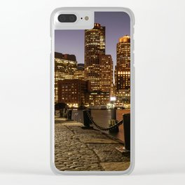 The Lights of Boston pier Clear iPhone Case