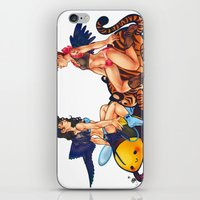 destiel iPhone & iPod Skins featuring destiel pinup by noCek