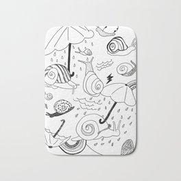 Snails in the Rain Bath Mat