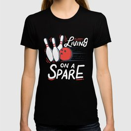 Living on a Spare | Bowling T-shirt