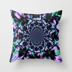 Black and Purple Kaleidoscope Throw Pillow