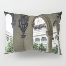 Spanish Cloister with Orange Trees Pillow Sham
