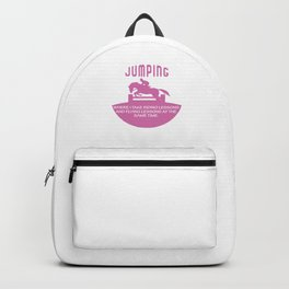 Jumping Equestrian Animal Horse Lovers Shirt Backpack