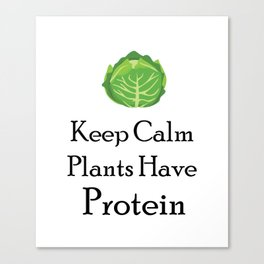 Vegetarian Funny Gift Canvas Print