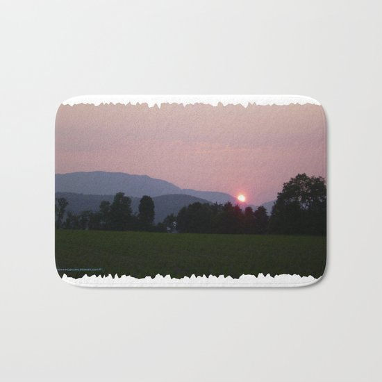 Vermont Sunset over Green Mountains of Vermont Bath Mat