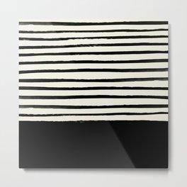 Black x Stripes Metal Print