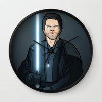 jedi Wall Clocks featuring Jedi Cas by rdjpwns