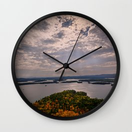 Squam Lake, 5-Finger Point Wall Clock