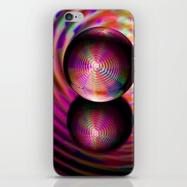 Circle of reds in the crystal ball iPhone Skin