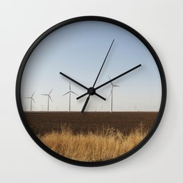 A wind-turbine farm near the city of Snyder in Scurry County Texas Wall Clock
