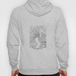 Jacksonville White Map Hoody