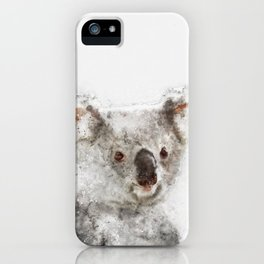 Koala Watercolor iPhone Case