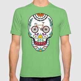 Cycling Sugar Skull Road Bike T-shirt