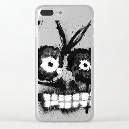 Zombie Aqua Face Clear iPhone Case