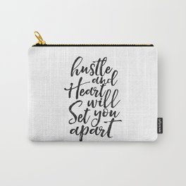 Printable Poster, hustle Hard,hustle quote,office decor,quote prints,inspirational poster,wall art Carry-All Pouch
