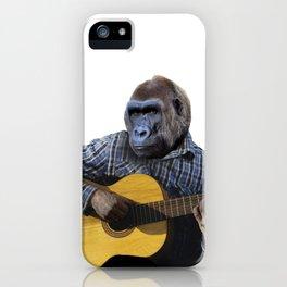Gorilla Playing Guitar iPhone Case