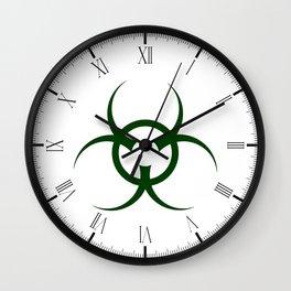 Bio Hazard Symbol Wall Clock