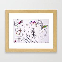 Circus of love Framed Art Print