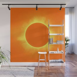 Solar Eclipse in Daffodil color Wall Mural